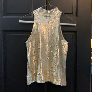 WHBM silk sequins blouse size XS